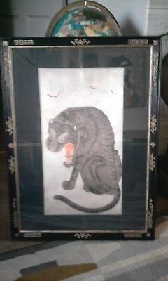 Beautifull framed Japanese wood block print on canvase
