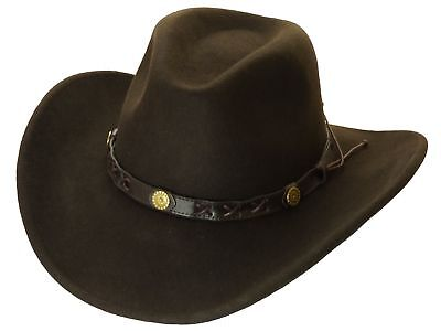 Cowboy Hat Wool Felt Dakota Brown Rollable rollhat
