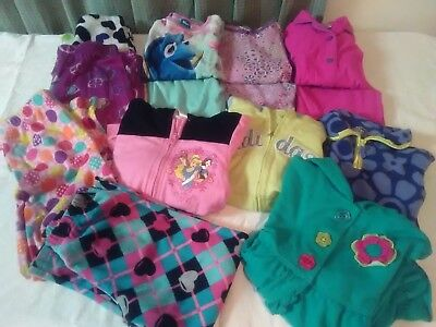 Lot of 14 Pc Girls Size 6 -7 PJs Sets & Sleep Pants  Fall Winter & 4 Jackets