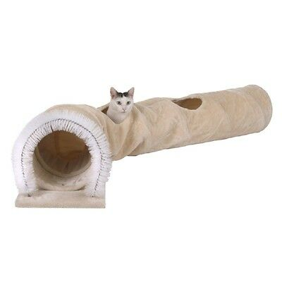 Cat Tunnel 3-in-1 Extra Long Sturdy Sisal Scratch Mat Balls Play Large Strong
