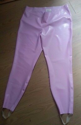 Latex rubber Leggings Lilac Fetish  XL LARGE DOUBLE THICKNESS WAISTBAND UNISEX