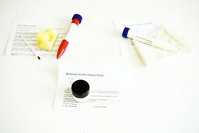 Complete leather repair kit for Holes or Burns in leather. Car or Furniture