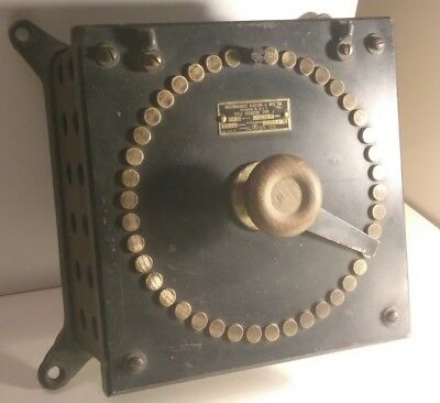 Antique Westinghouse Field Rheostat Type J Slate Boiler Electrical Dial Switch !