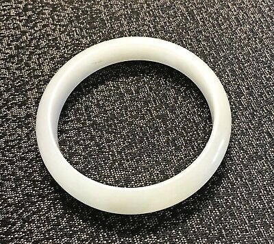 Chinese Carved White Jade Bangle Bracelet With Nice Color