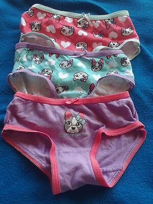 Brand NEW W/O PACK TODDLER GIRLS CAT AND DOG PANTIES SIZE 2T/3T 3 PAIR