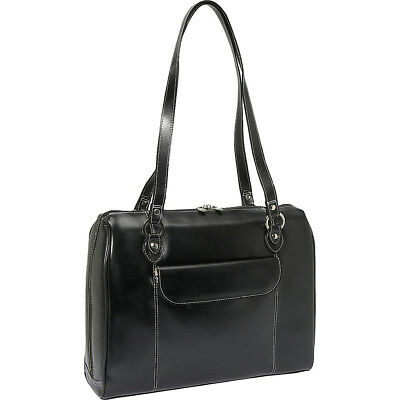 """McKlein USA Glenview 15.4"""" Leather Ladies Laptop Case Women's Business Bag NEW"""