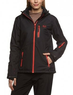 (Large, Black / Red) - Ultrasport Women's Softshell Jacket Serfaus with