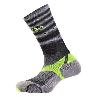 (29-31, Fade Black/Yellow) - Salewa Kids Trek Balance VP SK, Socks Unisex