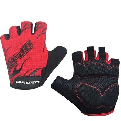 (Red, Large) - FXSHOW Outdoor Weight Lifting Gloves with High Quality to