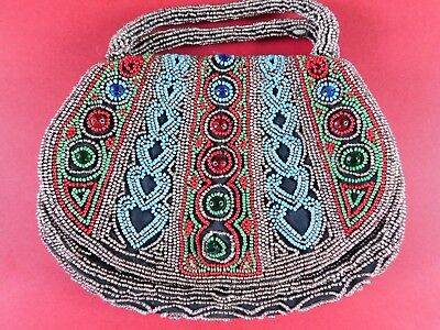 Vintage Beaded And Jewelled Hand Bag / Purse