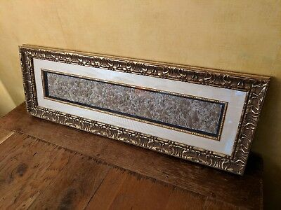 Antique Brocade/Fabric Sample - Framed