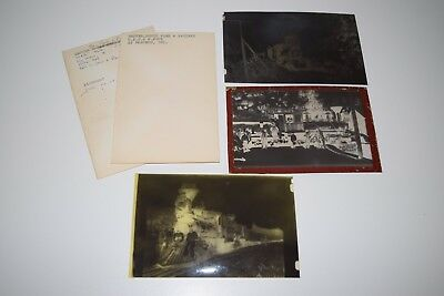 Vintage Photo Film Negative Lot Of 3 Denver South Park & Pacific Railroad 1884