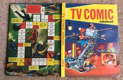 Excellent  Copy Of The 1969 Tv Comic Annual Book Dr Who Skippy Basil Brush