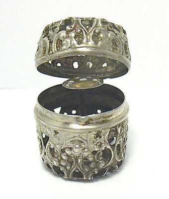 Victorian Sterling Silver Thimble Holder Box Fob 7.9 Grams