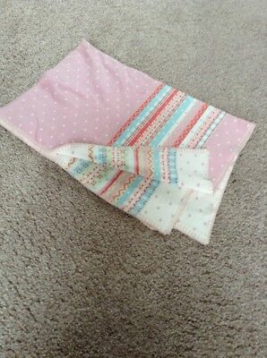 Lovely Baby Girls Mamas And Papas Knitted Reversible Blanket Bnwot