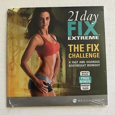 NEW SEALD Beachbody The Fix Challenge Workout to 21 Day Fix Extreme DVD ONLY