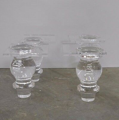 Acrylic Lucite Furniture Legs Glam Style (set of 4)