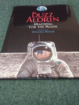 Hand Signed Buzz Aldrin  Autograph Reaching For The Moon Hardcover Book