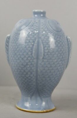 Good 19Th C.centuy Chinese Clair De Lune Twin Fish Shaped Vase Qianlong Mark