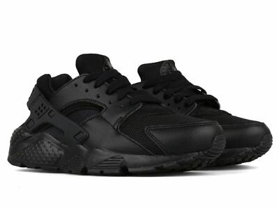 "Grade School Youth Size Nike Huarache Run ""Triple Black"" Athletic 654275 016"