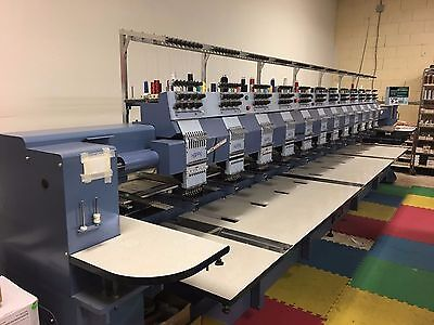 Happy embroidery machine 12 head