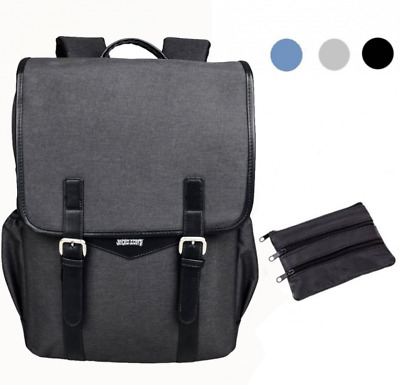 SHAOLONG Nylon Water Repellent Laptop Backpack 15.6 Inch Computer Bag Business B