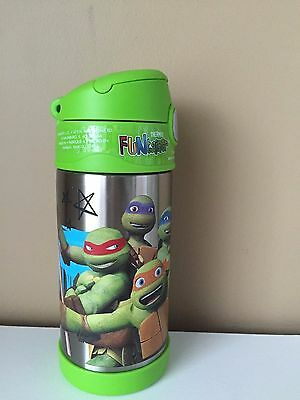 Thermos Funtainer TMNT Ninja Turtles Leo 12oz Stainless Steel 12hrs hot cold