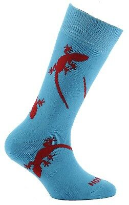 (Size 9½-12, Gecko Navy & Airforce Blue) - Horizon Boy's 2 Pack Sock