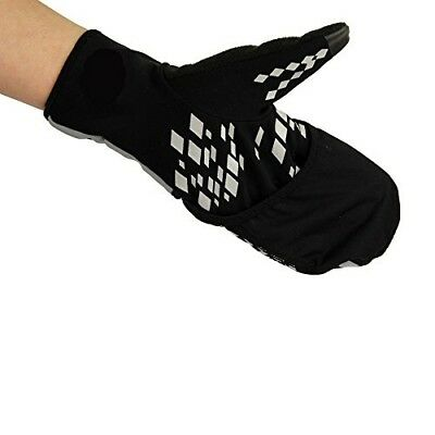 (Small, Black/Grey) - Fitness Mad Running Mittens-Black/Grey, Large