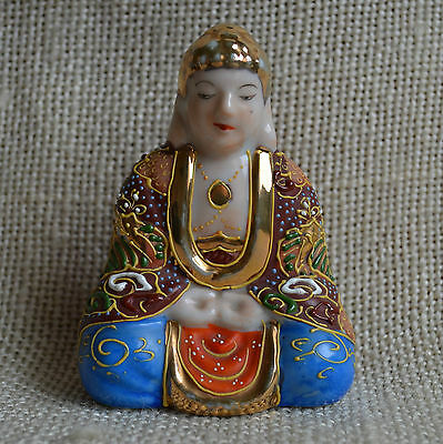 Suzuki Buddha Porzellanfigur Nippon Made in Japan für Carl Claussen H9,5 cm
