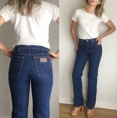 Vintage Wranglers, High Waist Blue- Tight and Flattering- Broken In 29 x 32 Tag
