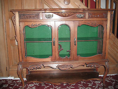 Antique ornate carved Victorian? - display cabinet / chiffonier base? Walnut?