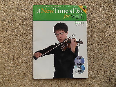 A New Tune A Day For Violin 1 Book (includes DVD and Audio CD) - free p & p