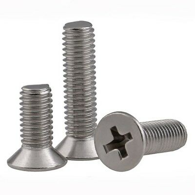 M4 / 4mm A2 Stainless Steel Countersunk Phillips Screws Machine Bolts GB/T819