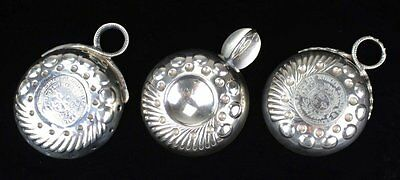 French Silver Wine Tasters/Tastevin –Vintage- LOT of 3-MUST SELL! Price Lowered!