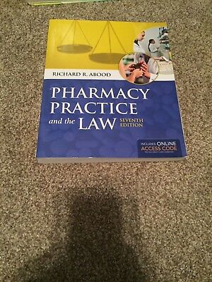 Pharmacy Practice and the Law by Richard Abood, 7th Edition
