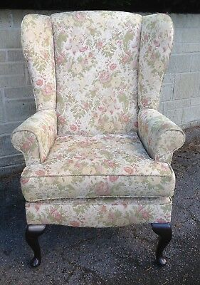 Shabby Chic Vintage Wing Back Armchair