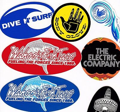 Lot of 9 different assorted stickers