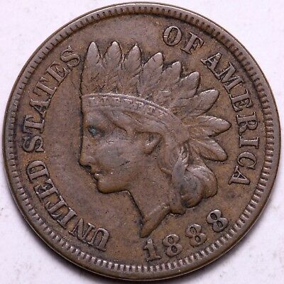 XF 1888 Indian Head Cent Penny K2AC