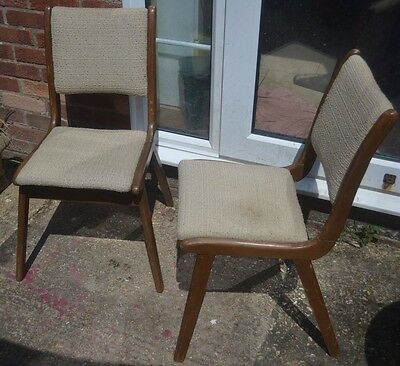 Minty of Oxford dining chairs mid century modern 1950's pair retro.