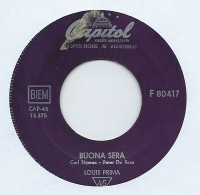 "Louis Prima - Buona Sera - Import - 7"" Single"