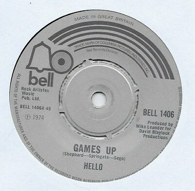 "Hello - Games Up - 7"" Single"