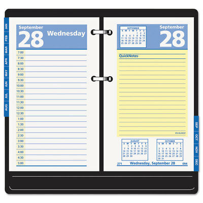 At-A-Glance QuickNotes Desk Calendar Refill 3 1/2 x 6 2018 E51750