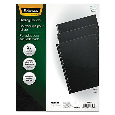 Fellowes Futura Binding System Covers Square Corners 11 x 8 1/2 Black 25/Pack