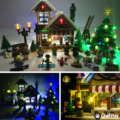 LED Light Kit ONLY With USB HUB For Lego 10249 Winter Toy Shop Lighting Bricks