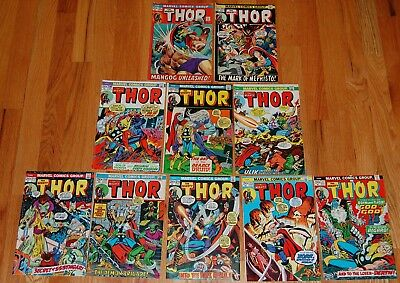 THOR #197-217 Marvel Bronze Age Comic 10pc Run MOVIE Lot 20c Issues GREAT DEAL