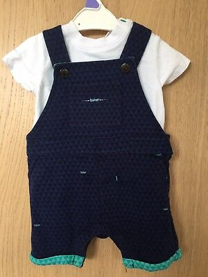 Ted Baker 3-6 Months Navy Dungarees