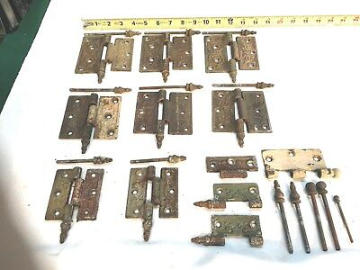 OLD Victorian Cast Iron Door Hinges Steeple Hardware