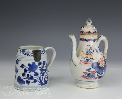 Two Unusual Pieces Of Antique 18C Chinese Porcelain