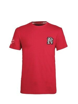 (Large, Z76 Red) - Front Up Rugby Men's Pain is Temporary T-Shirt